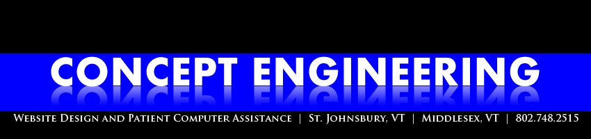 Concept Engineering Vermont Website Design, St. Johnsbury, Montpelier, Vermont, New Hampshire, Maine, New York